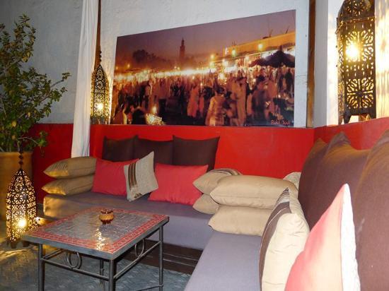 Riad Badi : salon terrasse 1