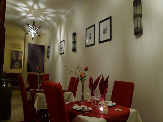 Riad Badi: salle à manger