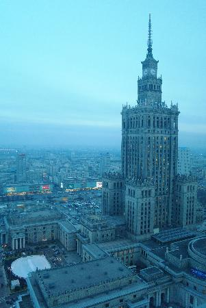 InterContinental Hotel Warsaw: view from standard room on 29th floor