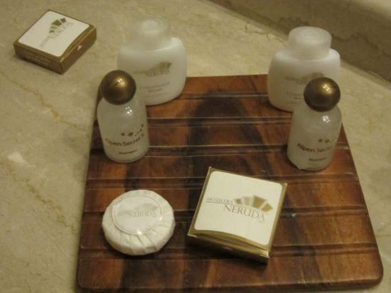 Hotel Neruda Express: amenities, gorra de baño, jabón, etc.