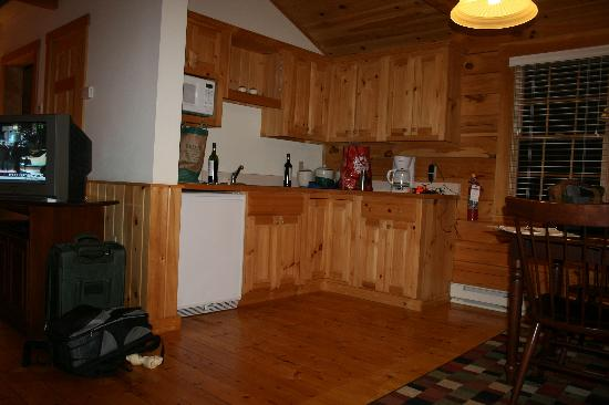 Point Lookout: our cabin kitchen area