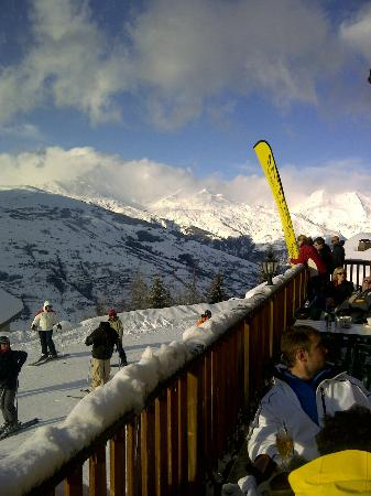 View from balcony of the bar at Chalet la Foret