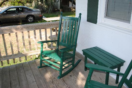 Edwards of Ocracoke Rooms and Cottages: Rocking chairs for relaxing