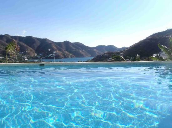 Vista desde la piscina Casa LOS CERROS