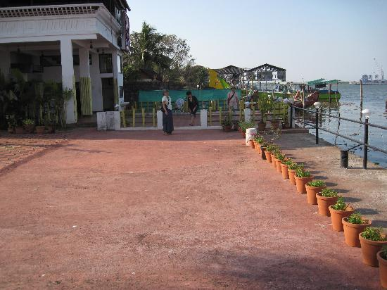 The Capital Fort Kochi: dining area upstairs on the left