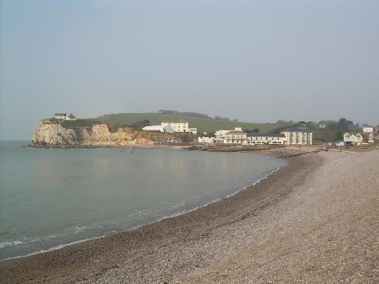 Freshwater, UK: Albion Hotel and headland