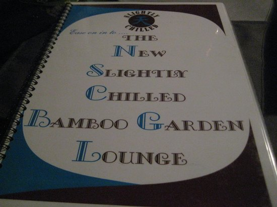 Slightly Chilled Lounge Bar (Bamboo Garden) : de kaart
