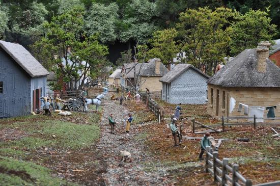 Old Hobart Town Model Village: Scene along Collins Street (I think)