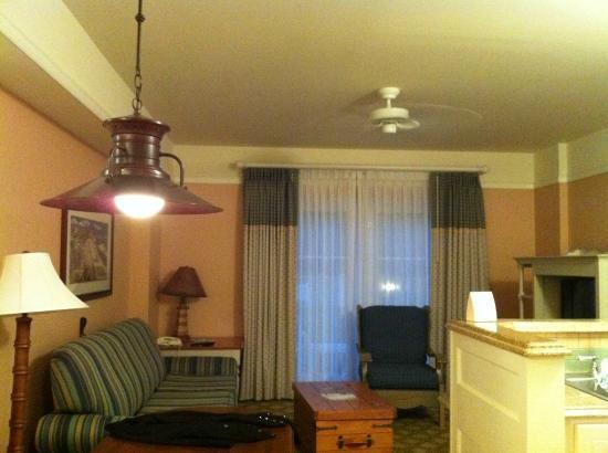 Disney's Beach Club Villas: Living room area in Villa