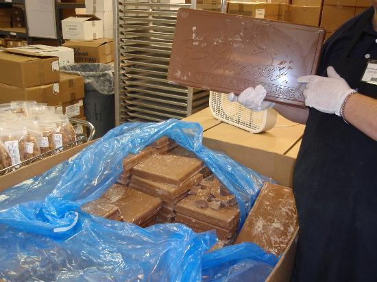 Candy House Gourmet Chocolates: they start with 10lb chocolate bars