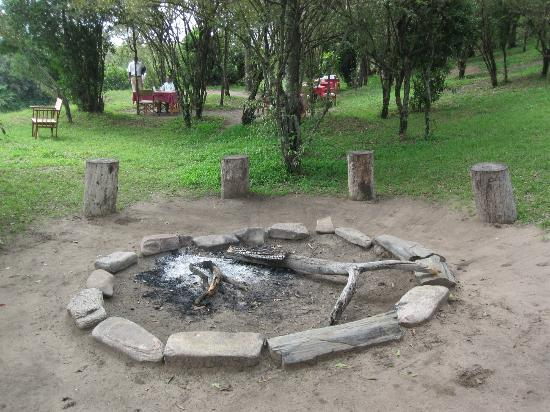 Naibor Camp: The fire place.