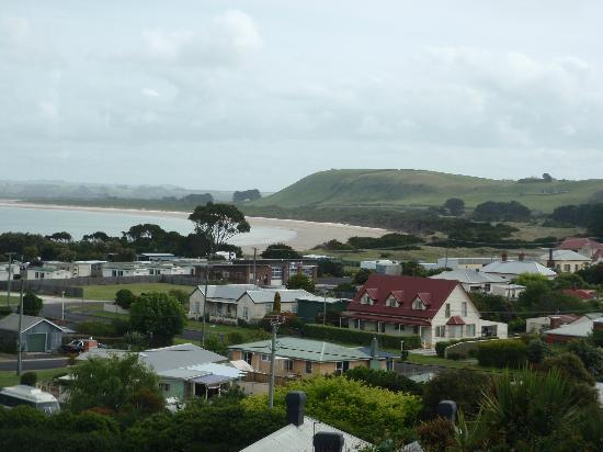 Touchwood Cottages: view of Stanley from living room window