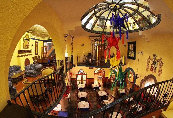 Hotel Colonial de Puebla: Restaurant