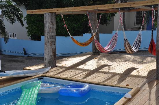 J & W Apartments: pool and hammocks