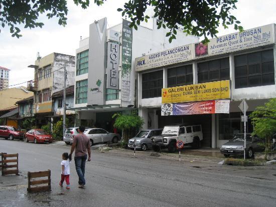 V Garden Hotel: Street of the hotel