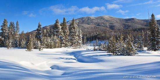 Images of Rocky Mountain National Park: Kawuneeche in White