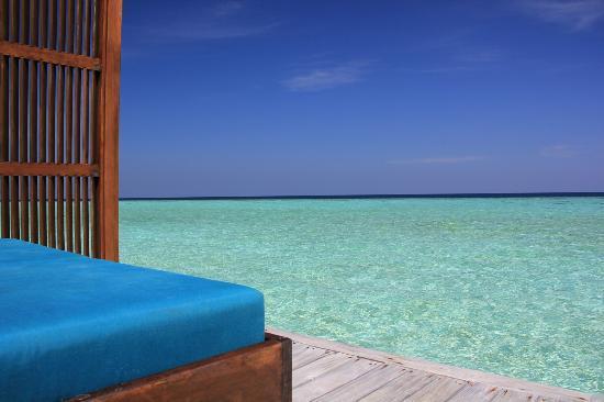 Veligandu Island Resort & Spa: Blick von unserer Veranda