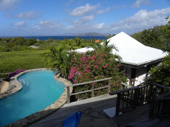 Guavaberry Spring Bay Vacation Homes: View from the Casa Rocalta Gazebo
