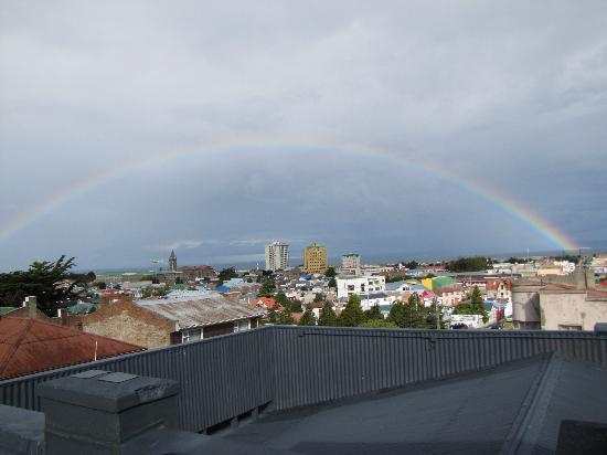 Ilaia Hotel : Colorful Punta Arenas after the rain from Ilaia sitting room