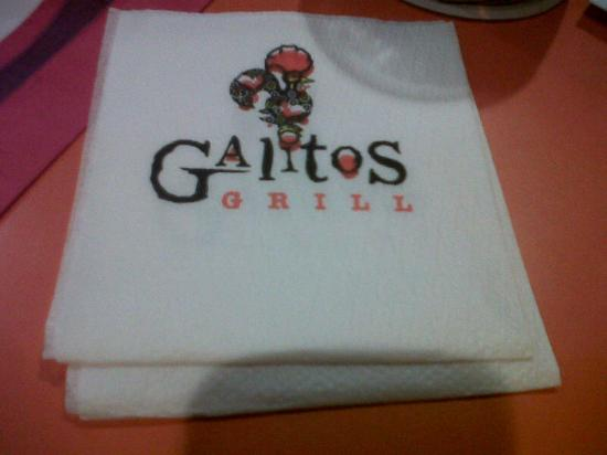 Galitos Grill: Their logo, on the sign and on the napkins