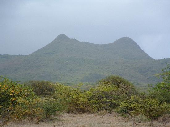 Nelson's Lookout: Saddle Hill from a distance (Nelsons Lookout) Nevis, West Indies