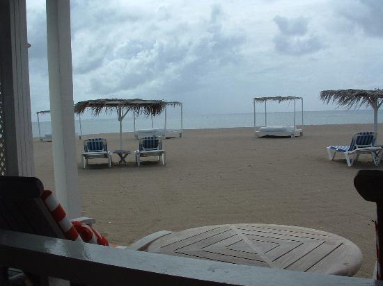 Cades Bay beachside restaurant, Nevis, West Indies