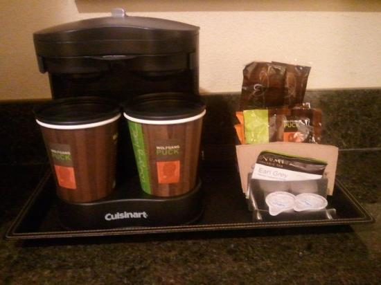 "Doubletree Hotel Chicago Oak Brook: Complimentary ""Wolfgang Puck"" Coffee"