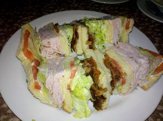 Aquarius Casino Resort: Club sandwich from The Vineyard AKA cafe