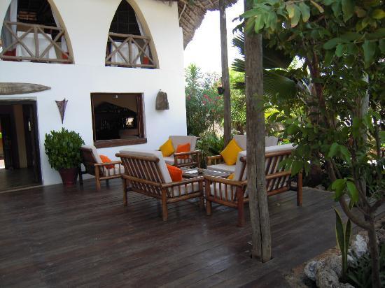 Dhow Inn: la terrasse