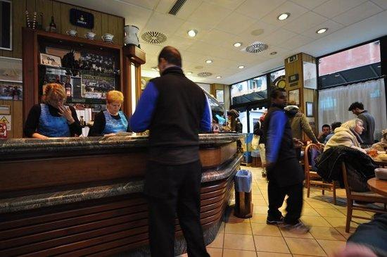 Interior of Bar da Gino