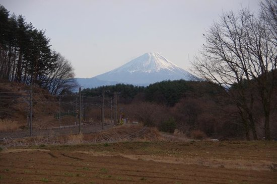 Hokuto, Giappone: 三峰の丘から望む富士山