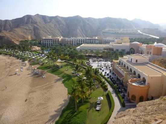 Barr Al Jissah, Oman : Al Husn sea view room, view of Al Bandar