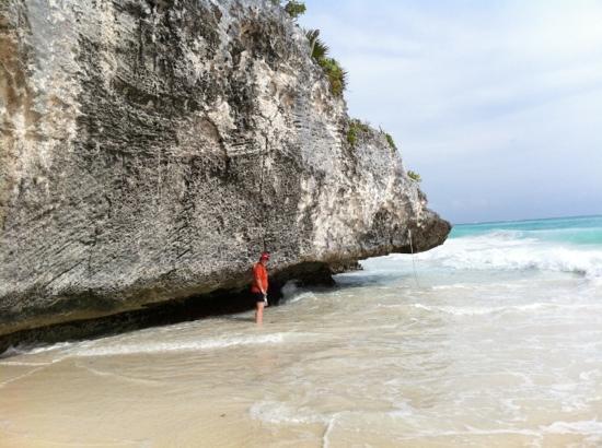 Playa del Carmen, Mexiko: en Tulum... playa de las ruinas arqueológicas Mayas
