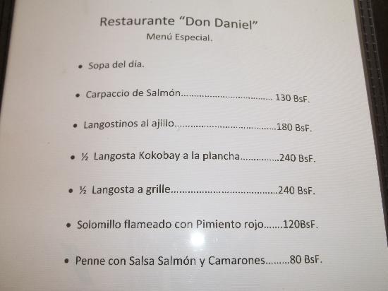 Hotel Kokobay: menu payant