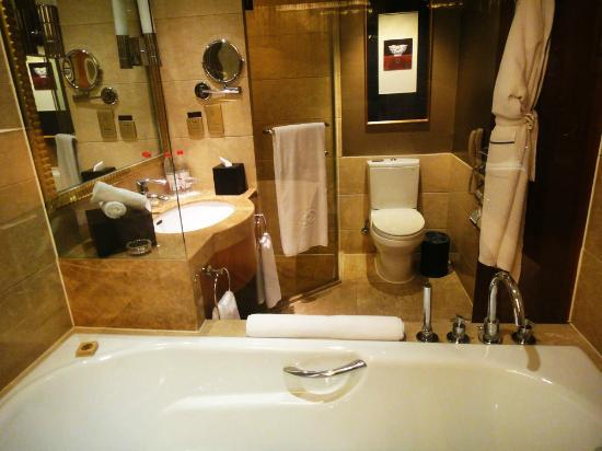 Sofitel Harbin: Bathroom as viewed from the room window
