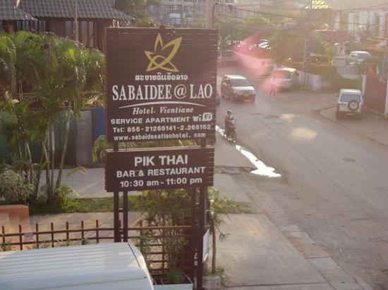Sabaidee@Lao Hotel: Hotel Sign