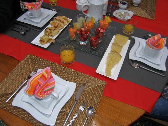 Deel van ontbijt Dar Melody