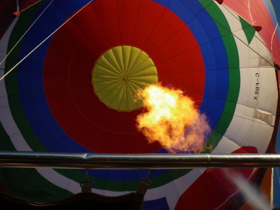 Sundance Balloons: Flame inside the balloon