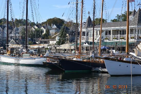 Camden Riverhouse Hotel and Inns: Windjammer schooner in Camden Harbor