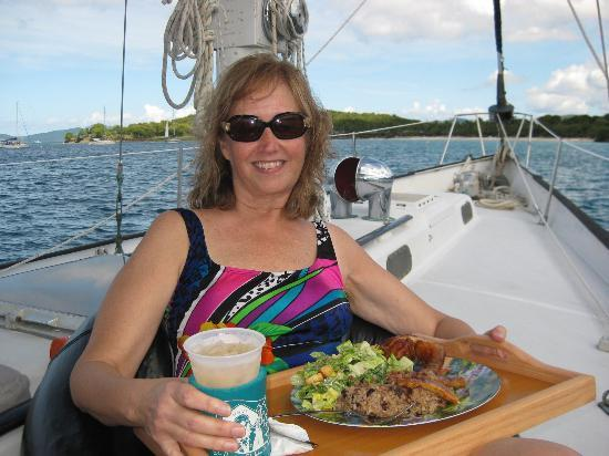 Alaunt Charters day sails: Great food onboard!