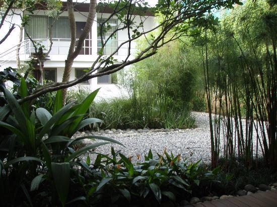 La Inmaculada Hotel: Garden Courtyard from cafe