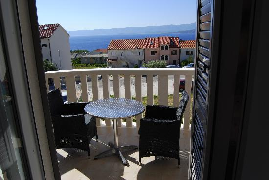 Lovely Croatia Apartments: our apartment balcony with table and 2 chairs - what a wanderful view!
