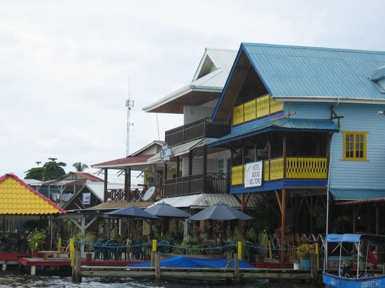 Hotel Bocas del Toro: Water view of Hotel