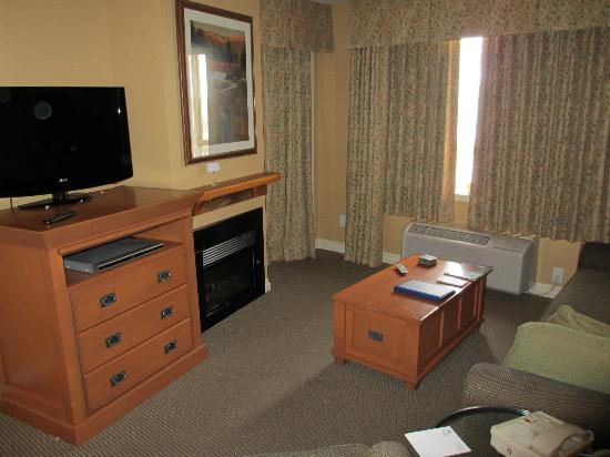 Pemberton Valley Lodge: Living room area with pull-out bed