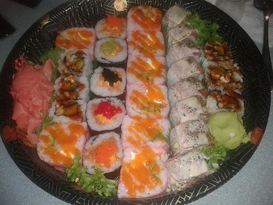 Matsu Japanese Restaurant: Carry out tray we had for New Year's Eve