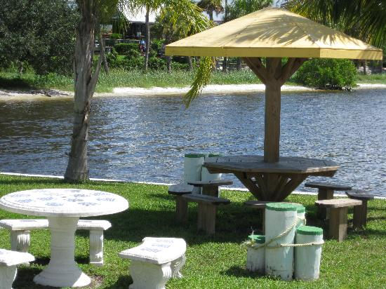 Banana Bay Waterfront Motel: outdoor dining