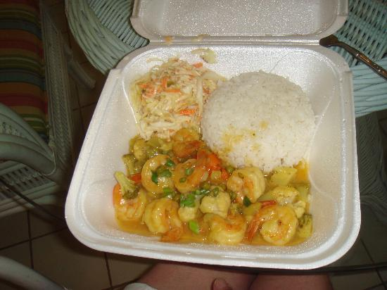 Curry Shrimp w/ Rice and Slaw - Picture of Tim-Buc-Tuu ...