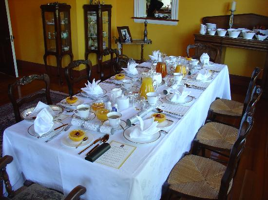 The Marlborough Lodge: La table du petit déjeuner