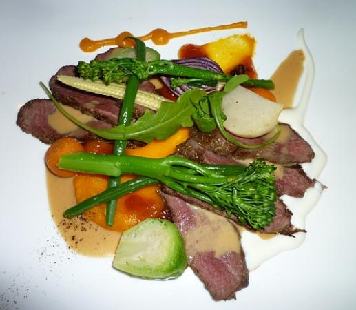 Emily's: Blesbok Loin with Butternut Puree, Apricot Chutney and Foie Gras Cream