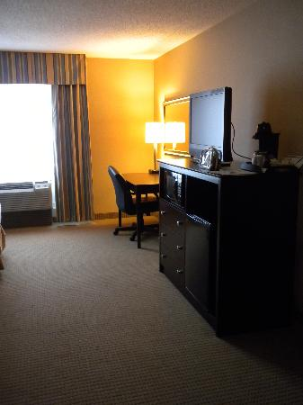 Holiday Inn Express Hotel & Suites Cincinnati : television and desk area